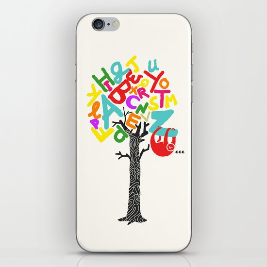 Sleep All Day (A-Z) iPhone & iPod Skin