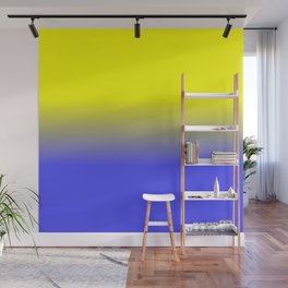 Neon Yellow and Neon Blue Ombré  Shade Color Fade Wall Mural