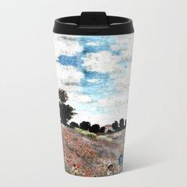 Claude Monet's Poppy Fields Metal Travel Mug