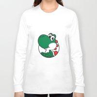 yoshi Long Sleeve T-shirts featuring Yoshi by pondlifeforme