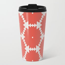 Red Stars of Christmas Pattern Geometric Abstract Travel Mug