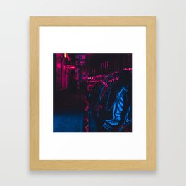 Cyberpunk Lonely Street Framed Art Print