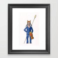 Lynx Warrior Framed Art Print