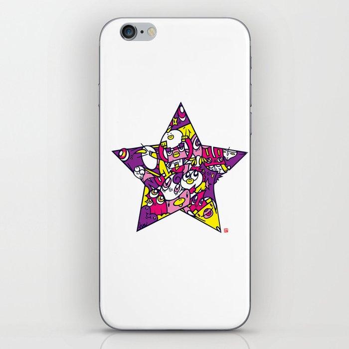 PINK STAR iPhone Skin