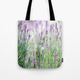Lavender in summer garden Tote Bag