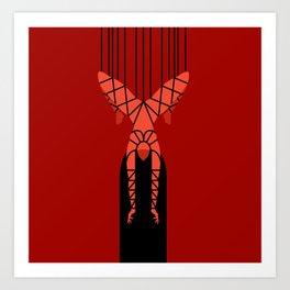 shibari bondage hanging girl Art Print
