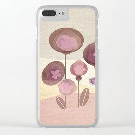 Flowers en Rose Clear iPhone Case