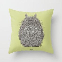 Avocado Totoro Throw Pillow