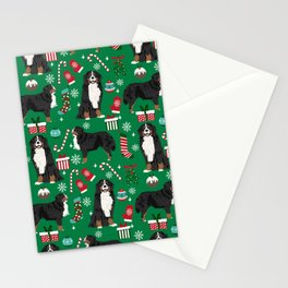 Bernese Mountain Dog christmas dog breed gifts mittens stockings presents candy canes Stationery Cards