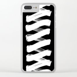 Zigzag white Clear iPhone Case