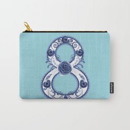 Blue floral eight Carry-All Pouch