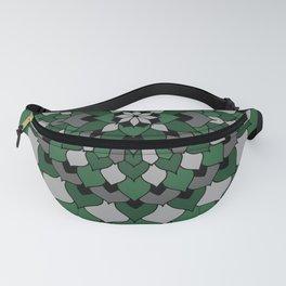 Green & Silver Floral Mandala Fanny Pack