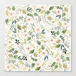 Botanical Spring Flowers Canvas Print