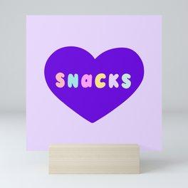 Love Snacks in Lilac Mini Art Print