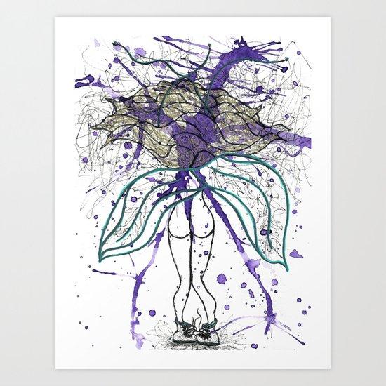 Walking Wallflower Art Print