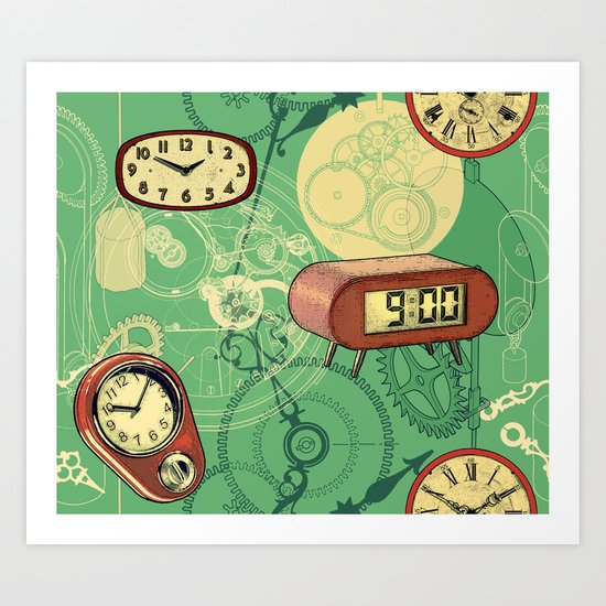 TIC TAC TIME Art Print
