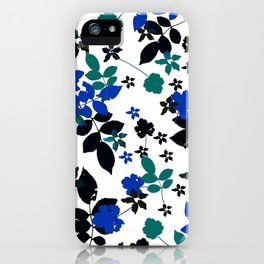 cobalt leaves iPhone Case