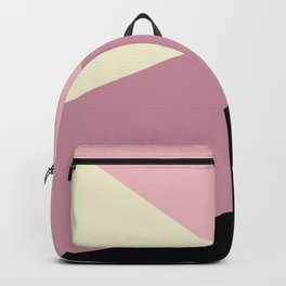 Lemon & purple geometric  Backpack