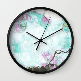 Crossroads - Square Abstract Expressionism Wall Clock
