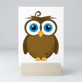 Wide Eyed Brown Owl Mini Art Print
