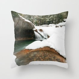 Lonesome Lake Trail Throw Pillow
