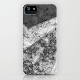 Combined abstract pattern in black and white . iPhone Case