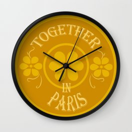 Together in Paris Wall Clock
