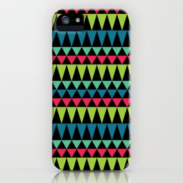 Neon Southwestern Pattern iPhone Case