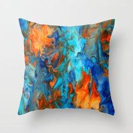Orange and Teal Throw Pillow