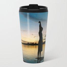 Female Body in the Amazon River Travel Mug