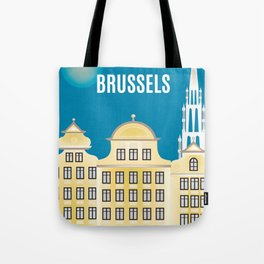 Brussels, Belgium - Skyline Illustration by Loose Petals Tote Bag