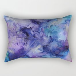 Abstract Watercolor and Ink Rectangular Pillow