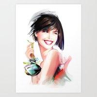 perfume Art Prints featuring perfume by tatiana-teni