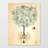 tree of life Canvas Prints featuring Life Tree by Paula Belle Flores