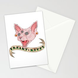 Freaky Kitty Stationery Cards