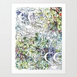 Oil Ink Art Print
