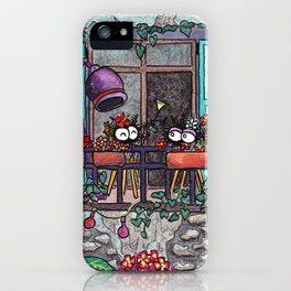 Spiders on the balcony iPhone Case