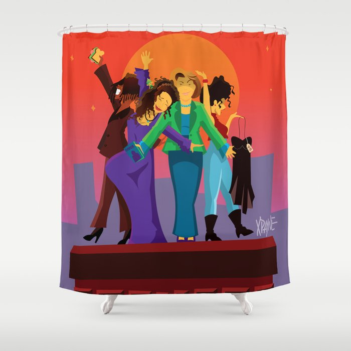 Living Single Shower Curtain