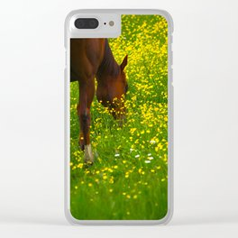Enjoying The Wildflowers Clear iPhone Case