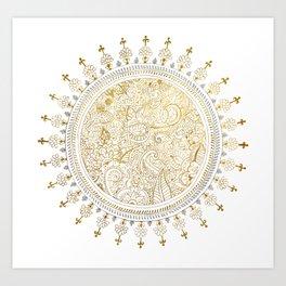 Mandala Justyoga Art Print