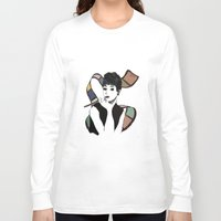 hepburn Long Sleeve T-shirts featuring hepburn by jollyjgiant