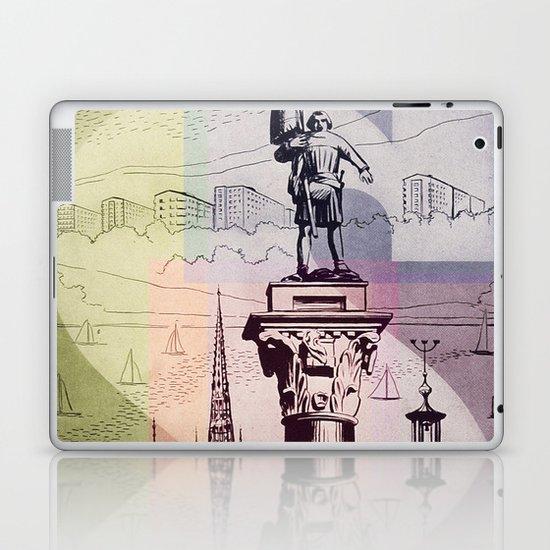 Vintage Pastel Collage of Sweden Laptop & iPad Skin