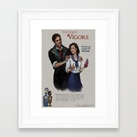 bioshock infinite Framed Art Prints featuring Bioshock Infinite Vigor Poster by Camila Vielmond