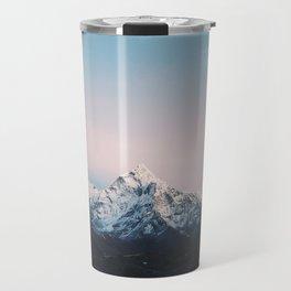 Blue & Pink Himalaya Mountains Travel Mug
