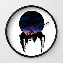 Mountain Sunset II Wall Clock