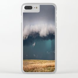 Small - Large Storm Towering Over Windmill in Texas Clear iPhone Case