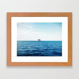 Rockland Harbor Lights from the Ferry Framed Art Print