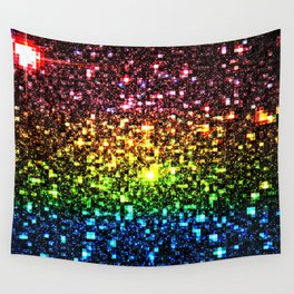 Geometric Galaxy Stars : Rainbow Wall Tapestry