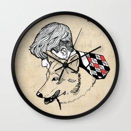 Wolf & Boy  Wall Clock