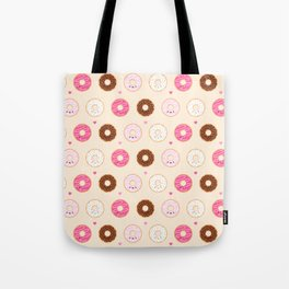 Cute Little Donuts on Cream Tote Bag